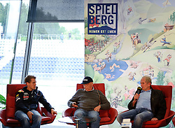 14.05.2011, Red Bull Ring, Spielberg, AUT, RED BULL RING, SPIELBERG, EROEFFNUNG, im Bild Sebastian Vettel, (Red Bull Racing), Niki Lauda, Dr. Helmut Marko, (Red Bull Racing) // during the official Opening for the Red Bull Circuit in Spielberg, Austria, 2011/05/14, EXPA Pictures © 2011, PhotoCredit: EXPA/ S. Zangrando