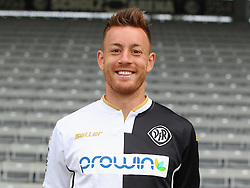 14.07.2015, Scholz Arena, Aalen, GER, 2. FBL, VfR Aalen, Fototermin, im Bild Michael Klauss ( VfR Aalen ) // during the official Team and Portrait Photoshoot of German 2nd Bundesliga Club VfR Aalen at the Scholz Arena in Aalen, Germany on 2015/07/14. EXPA Pictures © 2015, PhotoCredit: EXPA/ Eibner-Pressefoto/ Langer<br /> <br /> *****ATTENTION - OUT of GER*****
