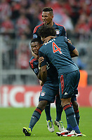 Fotball<br /> Tyskland<br /> 17.09.2013<br /> Foto: Witters/Digitalsport<br /> NORWAY ONLY<br /> <br /> 1:0 Jubel v.l. Torschuetze David Alaba, Dante, Jerome Boateng (Bayern)<br /> <br /> Fussball Champions League, Gruppephase, FC Bayern München - CSKA Moskva