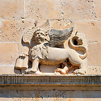 Winged Lion of St. Mark in Perast, Montenegro<br /> Much of the architecture of Persast reflects when it was ruled by the Republic of Venice from 1420 until 1797.  A classic example is this Winged Lion of St. Mark above the broken pediment of St. Mark&rsquo;s Church.  This represents Mark the Evangelist, the church&rsquo;s namesake. But it also was on the Republic&rsquo;s flag and coat of arms. To this day it is still used as the symbol for Veneto region and its capital city of Venice.