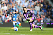 Burnley goalkeeper Tom Heaton (1) during the Sky Bet Championship match between Brighton and Hove Albion and Burnley at the American Express Community Stadium, Brighton and Hove, England on 2 April 2016.