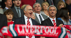 LIVERPOOL, ENGLAND - Saturday, April 23, 2011: Liverpool supporter and former Conservative Party leader Michael Howard and former striker Ian Rush before the Reds' Premiership match against Birmingham City at Anfield. (Photo by David Rawcliffe/Propaganda)