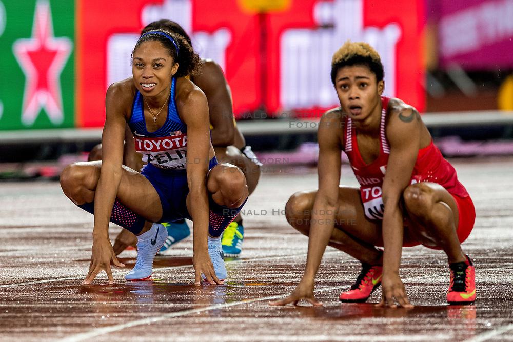09-08-2017 IAAF World Championships Athletics day 6, London<br /> Allyson Felix USA, bronze medal 400 m