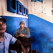 Guayaramerin, Bolivia Tuk-tuk drivers waiting for customers coming from the Brazilian side