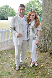 CAROL DECKER and her husband RICHARD COATES at the Flannels For Heroes cricket competition in association with Dockers held at Burton Court, Chelsea, London on 19th June 2015