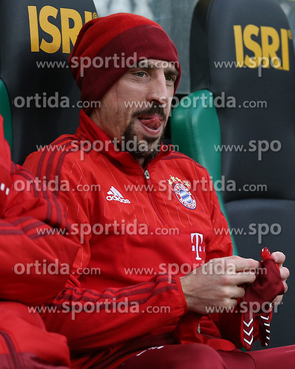 05.12.2015, Stadion im Borussia Park, Moenchengladbach, GER, 1. FBL, Borussia Moenchengladbach vs FC Bayern Muenchen, 15. Runde, im Bild Franck Ribery (#7, FC Bayern Muenchen), // during the German Bundesliga 15th round match between Borussia Moenchengladbach and FC Bayern Muenchen at the Stadion im Borussia Park in Moenchengladbach, Germany on 2015/12/05. EXPA Pictures &copy; 2015, PhotoCredit: EXPA/ Eibner-Pressefoto/ Deutzmann<br /> <br /> *****ATTENTION - OUT of GER*****