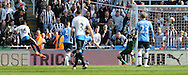 Rolando Aarons (16) of Newcastle United scoring to make it 4-1 during the Barclays Premier League match at St. James's Park, Newcastle<br /> Picture by Simon Moore/Focus Images Ltd 07807 671782<br /> 15/05/2016