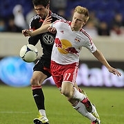Dax McCarty, Red Bulls, in action during the New York Red Bulls V D.C. United Major League Soccer, Eastern Conference Semi Final 2nd Leg match at Red Bull Arena, Harrison. New Jersey. USA. 8th November 2012. Photo Tim Clayton