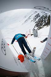 15.03.2016, Engiadina, St. Moritz, SUI, FIS Weltcup Ski Alpin, St. Moritz, Abfahrt, Herren, 1. Training, im Bild Bruno Kernen fotografiert während der Medien Besichtigung des Freefall Starts. // during 1st training run for the men's Downhill of St. Moritz Ski Alpine World Cup finals at the Engiadina in St. Moritz, Switzerland on 2016/03/15. EXPA Pictures © 2016, PhotoCredit: EXPA/ Freshfocus/ Manuel Lopez<br /> <br /> *****ATTENTION - for AUT, SLO, CRO, SRB, BIH, MAZ only*****