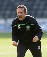 19/03/16 LADBROKES PREMIERSHIP<br /> KILMARNOCK v CELTIC<br /> RUGBY PARK - KILMARNOCK<br /> Sheer delight for Celtic manager Ronny Deila at full-time
