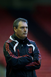 LIVERPOOL, ENGLAND - Thursday, May 5, 2011: Liverpool's coach Pep Segura during the FA Premiership Reserves League (Northern Division) match against Manchester United at Anfield. (Photo by David Rawcliffe/Propaganda)