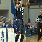 01/12/12 Newark DE: University of North Carolina Wilmington Junior Guard Tawanna Lee #2 attempts a long range shoot  during a Colonial Athletic Association Conference Basketball Game against The Fightin Blue Hens Thursday, Jan. 12, 2012 at the Bob Carpenter Center in Newark Delaware.