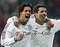v.l. Jubel nach dem 0:2 Michael BALLACK , Roy MAKAAY<br /> Bundesliga Bayer 04 Leverkusen - Bayern MŸnchen 1:3