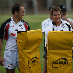 The Sharks Camp Jacques Botes and Craig Burden during the Sharks training session at Michaelhouse,  College of Natal, was founded in 1896 and is an internationally renowned boarding school for senior boys. Situated on a secure estate in the beautiful Midlands of KwaZulu-Natal, South Africa, the school has a fully residential staff which facilitates a high level of pastoral care and interaction with the pupils. The distinctive ivy clad architecture on inter-linked quadrangles inspires a sense of belonging amongst the 540 boys of international and regional origin.