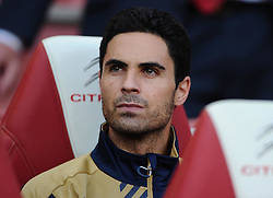 Mikel Arteta of Arsenal  - Mandatory by-line: Joe Meredith/JMP - 25/07/2015 - SPORT - FOOTBALL - London,England - Emirates Stadium - Arsenal v Lyon - Emirates Cup