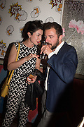 MILA ASKAROVA; FRANCESCO PETRUCCI,  Gazelli host The Colbert Art Party last night at  LouLou's, The Bauer in Venice, Venice Biennale, Venice. 7 May 2015