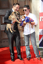 (L-R) David Walliams and Simon Cowell attend the press launch for 'Britain's Got Talent' at St Luke's Church, London, United Kingdom. Wednesday, 9th April 2014. Picture by  i-Images