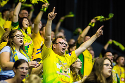 Florjani fan group of RK Celje PL during handball match between RK Celje Pivovarna Lasko (SLO) and SG Flensburg Handewitt (GER) in 3rd Round of EHF Men's Champions League 2018/19, on September 30, 2018 in Arena Zlatorog, Celje, Slovenia. Photo by Grega Valancic / Sportida