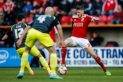 Ben Gladwin of Swindon Town in action - Photo mandatory by-line: Rogan Thomson/JMP - 07966 386802 - 21/04/2015 - SPORT - FOOTBALL - Swindon, England - The County Ground - Swindon Town v Walsall - Sky Bet League 1.