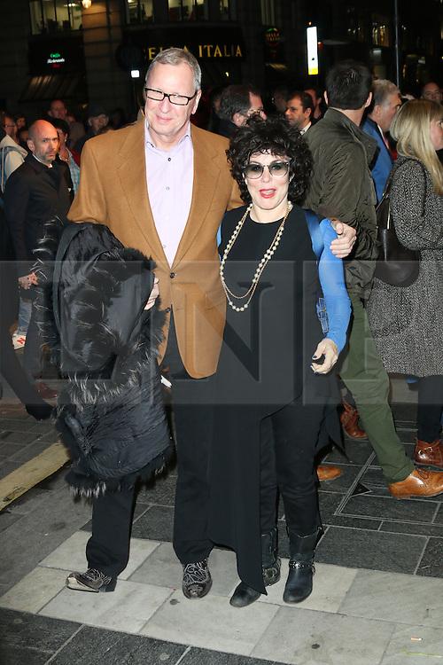 Ruby Wax, Barry Humphries Eat, Pray, Laugh - press night, London Palladium, London UK, 15 November 2013, Photo by Richard Goldschmidt © Licensed to London News Pictures. Photo credit : Richard Goldschmidt/Piqtured/LNP