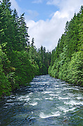 Santiam River in the Cascade Mountains