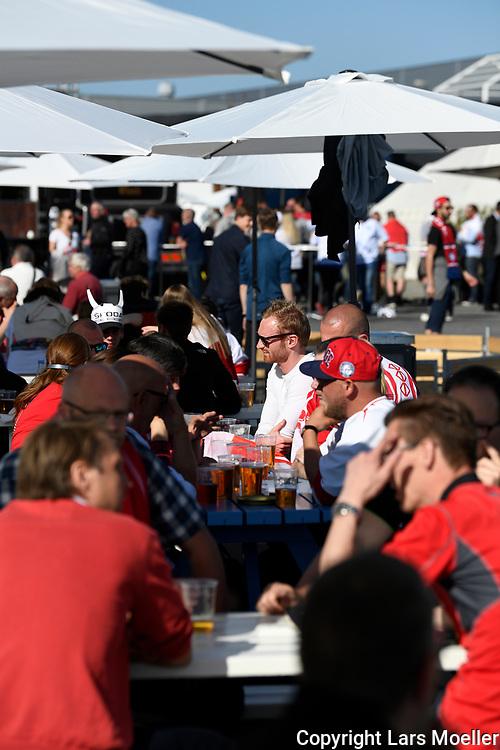 DK caption:<br /> 20180505, Herning, Danmark.<br /> IIHF Verdensmesterskabet i Ishockey. <br /> Gruppe B: Danmark-USA. Fanzone.<br /> Foto: Lars M&oslash;ller<br /> UK Caption:<br /> 20180505, Herning, Denmark.<br /> IIHF Ice Hockey World Championship. <br /> Group B: Denmark-USA.  Fanzone<br /> Photo: Lars Moeller