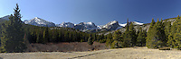 Panorama at Storm Pass Trailhead, Rocky Mountain National Park, Colorado