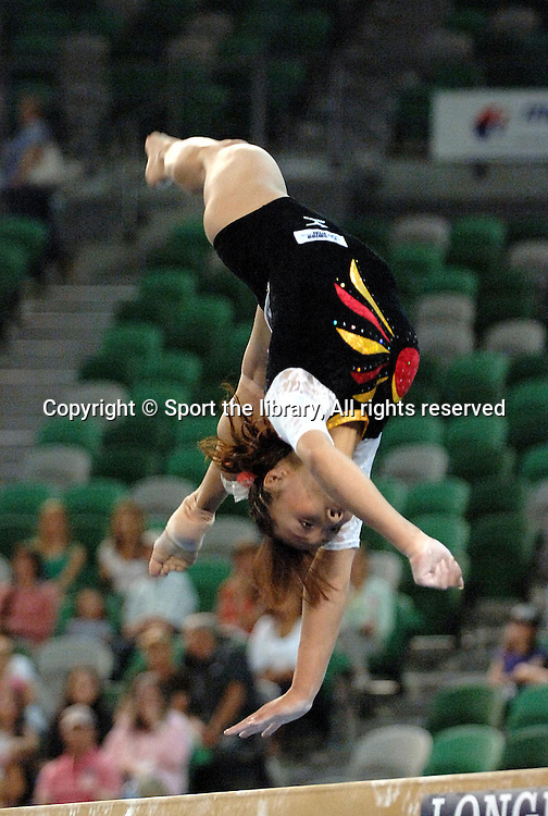 Ayaka Sahara (JPN);<br />Artistic Gymnastics,<br />World Championships,<br />Melbourne, Australia<br />22nd November 2005<br />&copy; Sport the library / Delly Carr
