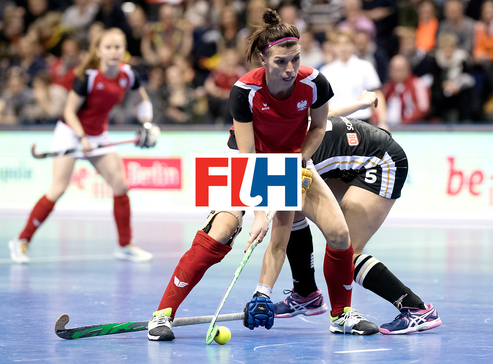 BERLIN - Indoor Hockey World Cup<br /> Quarterfinal 3: Germany - Poland<br /> foto: WISNIEWSKA Natalia.<br /> WORLDSPORTPICS COPYRIGHT FRANK UIJLENBROEK