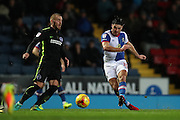 Blackburn Rovers midfielder, Ben Marshall (10) shoots at goal during the EFL Sky Bet Championship match between Blackburn Rovers and Brighton and Hove Albion at Ewood Park, Blackburn, England on 13 December 2016.