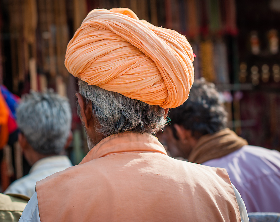 Rajasthani man with turban (India)