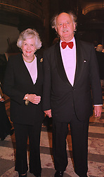 MR & MRS GARRY WESTON the Canadian multi-millionaire, at a dinner in London on 6th October 1998.MKN 10