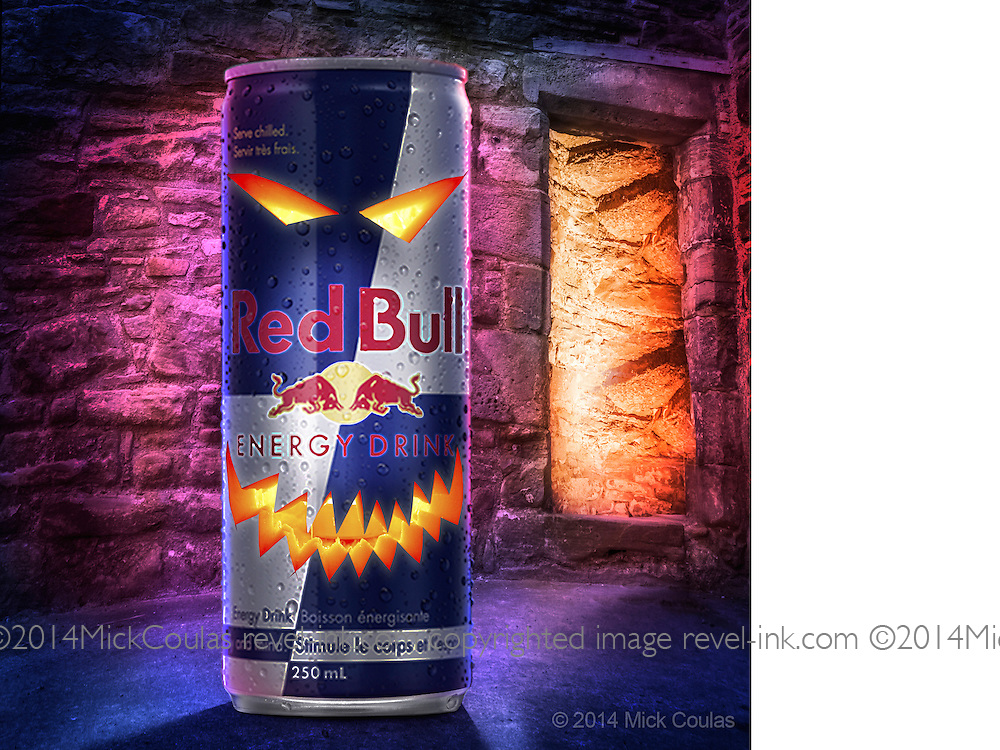 3D Modeling and Photoshop compositing with supplied product shot for Red Bull Twitter.