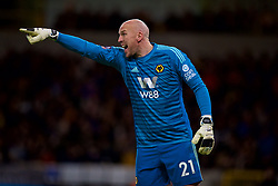 WOLVERHAMPTON, ENGLAND - Monday, January 7, 2019: Wolverhampton Wanderers' goalkeeper John Ruddy reacts during the FA Cup 3rd Round match between Wolverhampton Wanderers FC and Liverpool FC at Molineux Stadium. (Pic by David Rawcliffe/Propaganda)