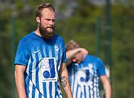 FODBOLD: Nicolai Stevns Nielsen (Hornbæk IF) under finalen i Seriepokalen mellem Hornbæk IF og Ballerup Boldklub den 20. maj 2019 på Brøndby Stadion. Foto: Claus Birch.