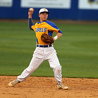 Tupelo second baseman Jack Ikerd throws to first looking for an out in the second inning against Oxford Tuesday night.