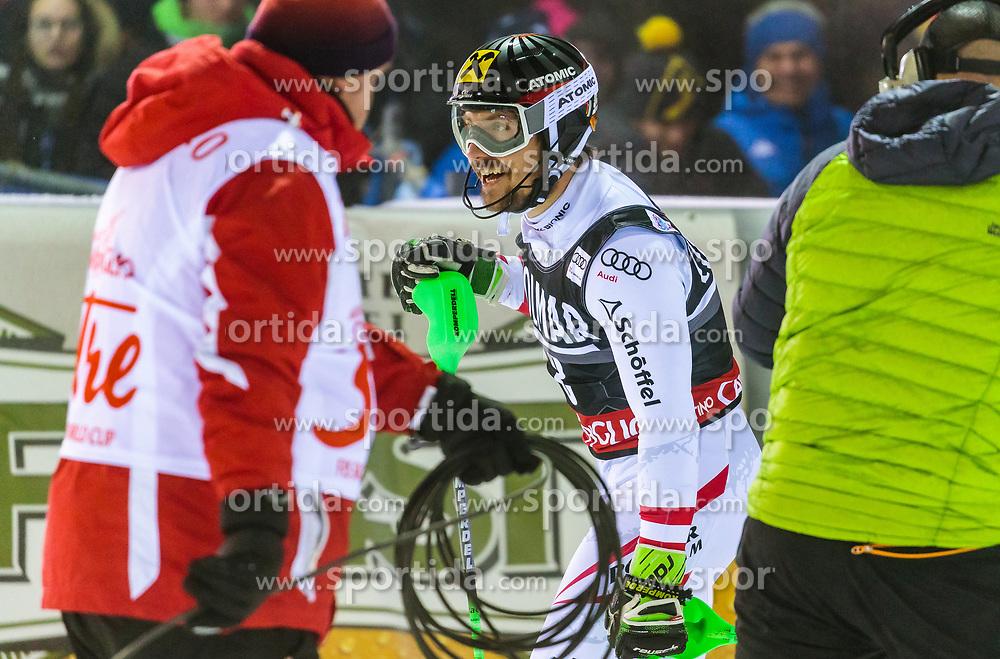 22.12.2017, Canalone Miramonti race course, Madonna di Campiglio, ITA, FIS Weltcup Ski Alpin, Madonna di Campiglio, Slalom, Herren, 2. Lauf, im Bild Marcel Hirscher (AUT) // Marcel Hirscher of Austria // reacts after his 2st run of men's Slalom of FIS ski alpine world cup at the Canalone Miramonti race course in Madonna di Campiglio, Italy on 2017/12/22. EXPA Pictures © 2017, PhotoCredit: EXPA/ Johann Groder