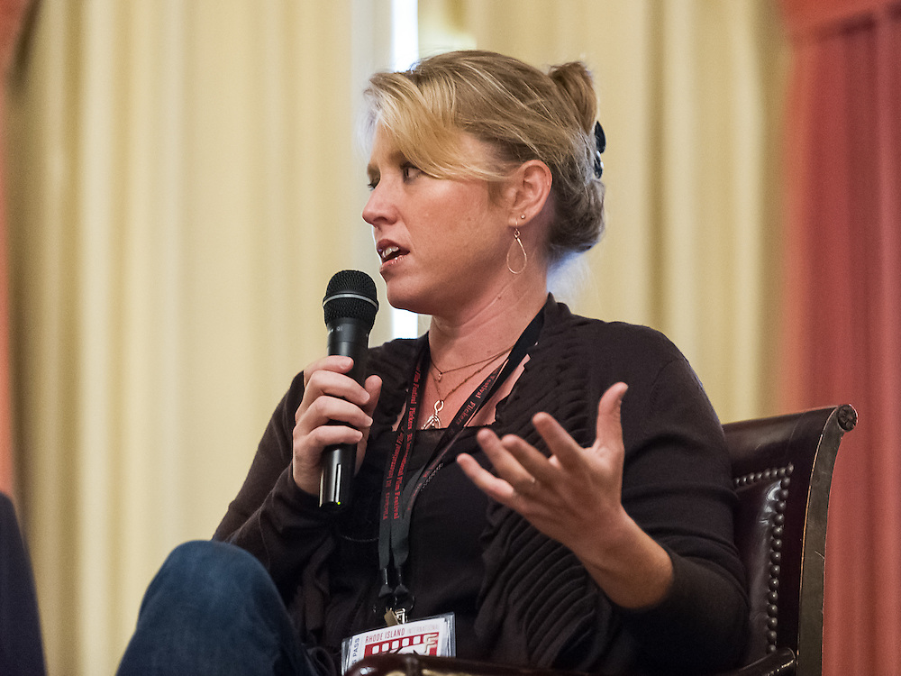 Amy Redford participates in the Film Forum at the Rhode Island International Film Festival on August 9, 2012 in Providence, Rhode Island.
