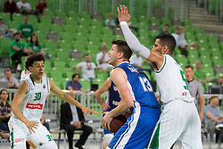 Leon Santelj of KK Rogaska during basketball match between KK Petrol Olimpija and KK Rogaska in 1st Semifinal match of Liga Nova KBM 2017/18, on May 9, 2018, in Arena Stozice, Ljubljana, Slovenia. Photo by Urban Urbanc / Sportida