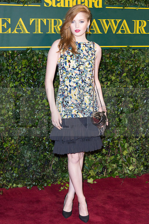 © Licensed to London News Pictures. 03/12/2017. London, UK. ELLIE BAMBER attends the London Evening Standard Theatre Awards 2017 held at the Theatre Royal, Dury Lane. Photo credit: Ray Tang/LNP