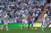 Atletico Madrid´s French forward Antoine Griezmann and Real Madrid´s Welsh forward Gareth Bale during the Spanish championship Liga football match between Real Madrid and Atletico Madrid on April 8, 2017 at Santiago Bernabeu stadium in Madrid, Spain - Photo Rudy / SpainProSportsImages / DPPI / ProSportsImages / DPPI