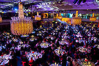 Guests seated for the Asian awards in The Grosvenor House Hotel, London.