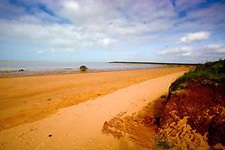 Pindan meets sand at Crab Creek in the Kimberley wet season.