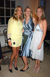Left to right, MISS ANITA PATRICKSON, MISS WILLOW CORBETT-WINDER and MISS NATHALIE BURGEN at a evening to celebrate the unveiling of the British Luxury Club at The Orangery, Kensington Palace, London W8 on 16th September 2004.<br /><br />NON EXCLUSIVE - WORLD RIGHTS