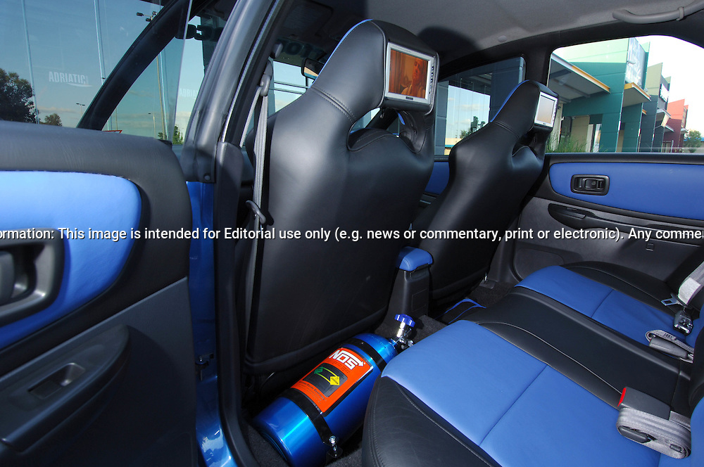 Interior .2000 MY00 Subaru Impreza WRX - WR Blue.Shot on location in Thomastown.10th December 2005.(C) Joel Strickland Photographics.Use information: This image is intended for Editorial use only (e.g. news or commentary, print or electronic). Any commercial or promotional use requires additional clearance.