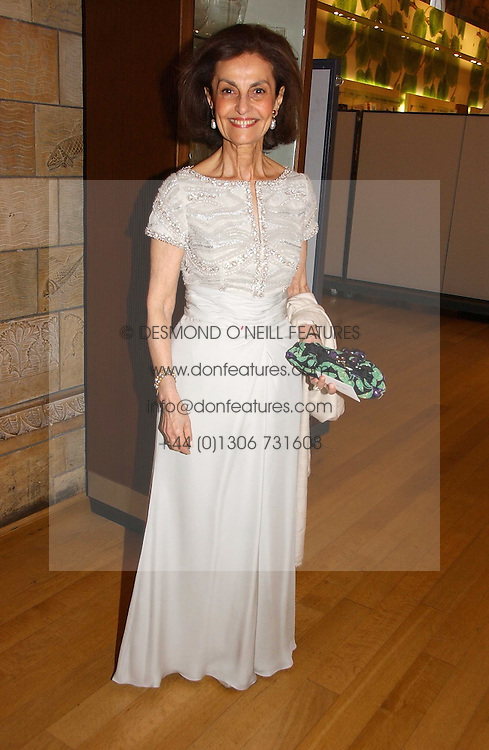 LADY LEVER at a gala dinner in the presence of HM Quenn Silvia of Sweden and HM Queen Noor of Jordan in aid of the charity Mentor held at the Natural History Museum, Cromwell Road, London on 23rd May 2006.<br />