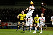 Fulham striker Lucas Piazon (20) clears a corner during the EFL Sky Bet Championship match between Burton Albion and Fulham at the Pirelli Stadium, Burton upon Trent, England on 1st February 2017. Photo by Richard Holmes.