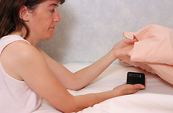 Vibrating alarm clock for people with hearing impairments,