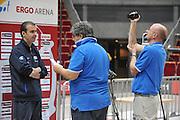 Danzica - Polonia 05 Agosto 2012 - TORNEO INTERNAZIONALE SOPOT CUP - Allenamento<br /> Nella Foto : SIMONE PIANIGIANI MINNO CACCIUINI<br /> Foto Ciamillo