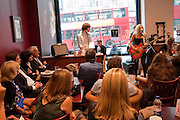 Tallulah Rendall.  Alive Album launch.  Cafe Nero. 27 Haymarket. London. 6 June 2011.<br /> <br />  , -DO NOT ARCHIVE-© Copyright Photograph by Dafydd Jones. 248 Clapham Rd. London SW9 0PZ. Tel 0207 820 0771. www.dafjones.com.